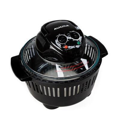 Aucma 12 Litre Premium Halogen Convection Oven Cooker 1300W Home Portable Black