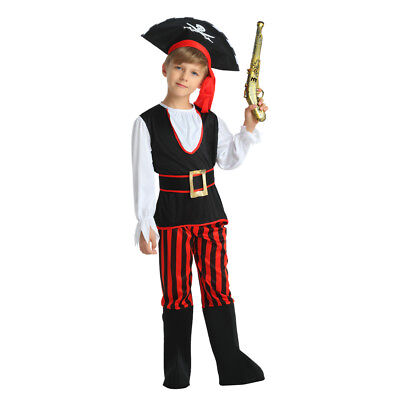 New Style Boy's Pirate Dress Up Kids Costume Cosplay Halloween Party - Pirate Kids Dress Up