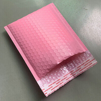 50x Pink Poly Bubble Mailer Padded Envelope Shipping Bag Self-seal Pack Supplies