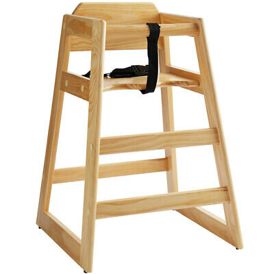 Lancaster Table Seating Ready-to-assemble Stacking Restaurant Wood High Chair