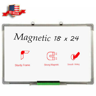 18 X 24 Magnetic Whiteboard Home Office Dry Erase Writing Wall Hanging Board