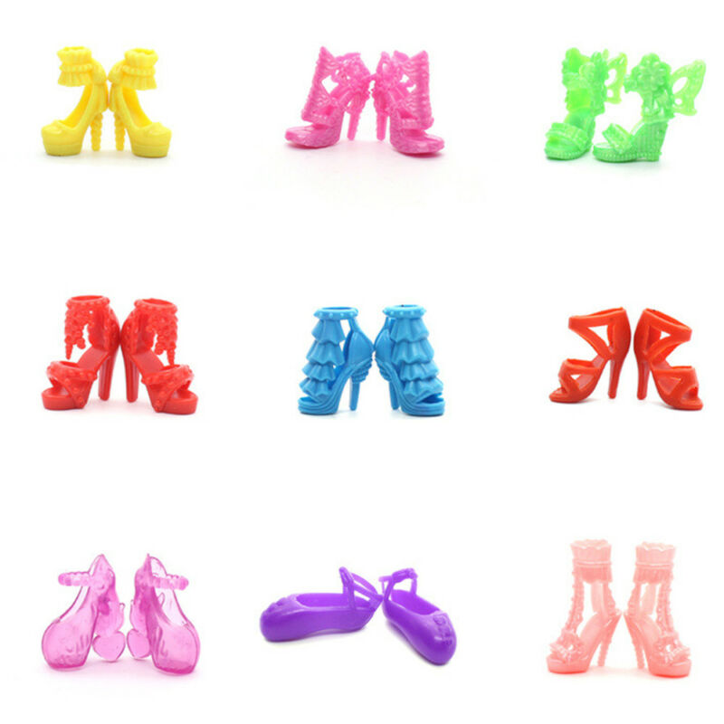 80pcs 40 Pairs Different High Heel Shoes Boots For 29cm Doll Dresses New