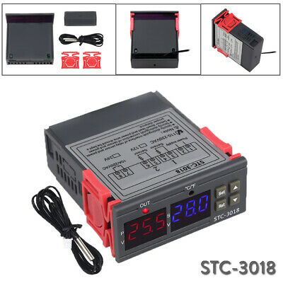 Stc-3018 Digital Temperature Controller Sensor Thermostat 12v 110v- 220v St0732