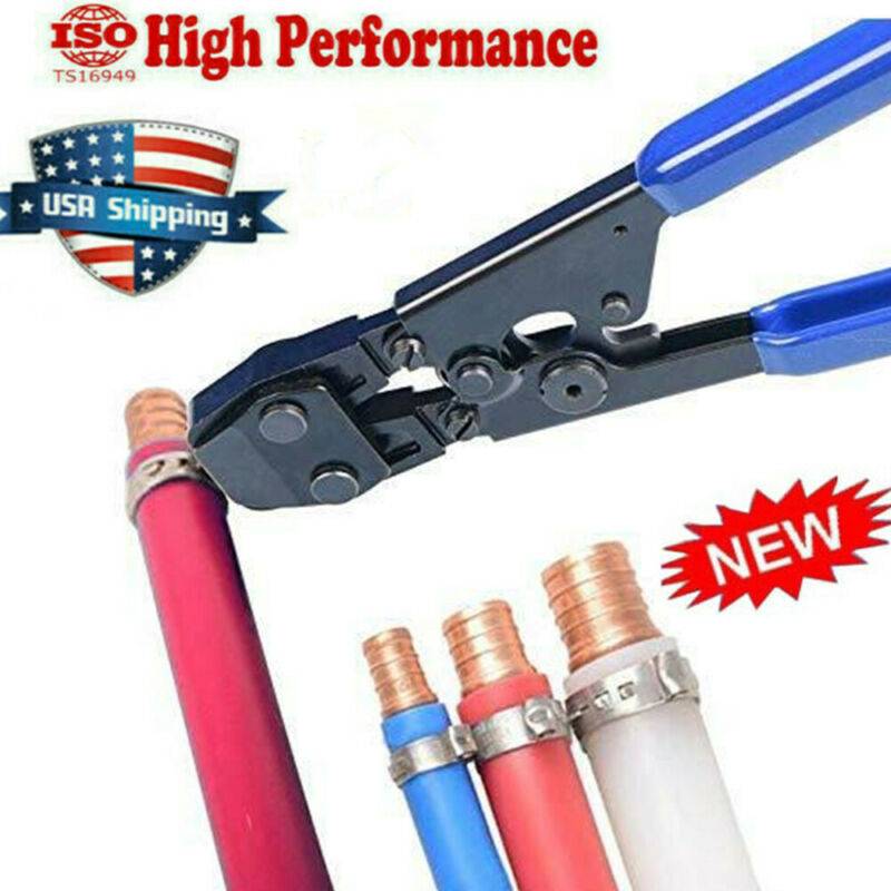 PEX Pipe Cinch Crimper Pliers Cutter For SS Hose Clamps Size