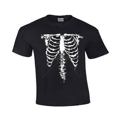 Holloween Costume Bones 1 Funny Rib cage T Shirt - Male Holloween Costumes