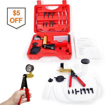 2in1 Hand-held Vacuum Pump Gauge Tester Manual Fluid Brake Bleeder Tools For Car