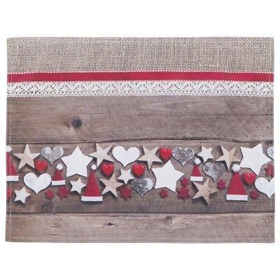 Tischset - Platzmatte Scott - Weihnachten Sterne Herzen - 2 teilig Platzmatten