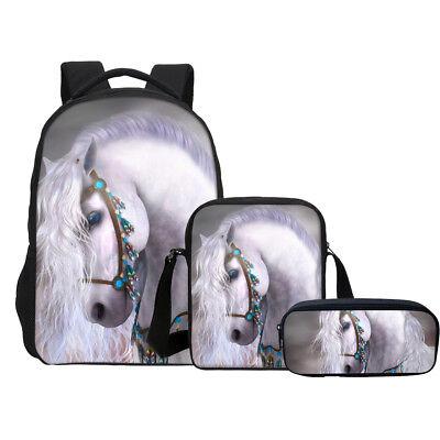 Indian Horse Style Kids' School Backpack Rucksack Crossbody Bag Pencil Case Lot