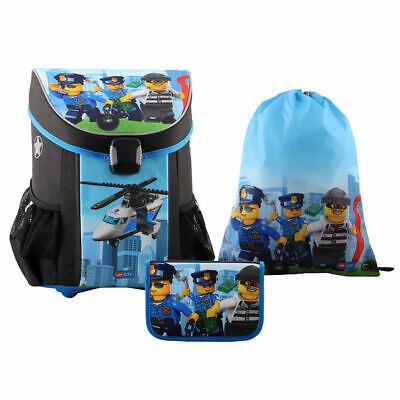 Lego Easy Schulranzen Set City Police Chopper Easy Chopper