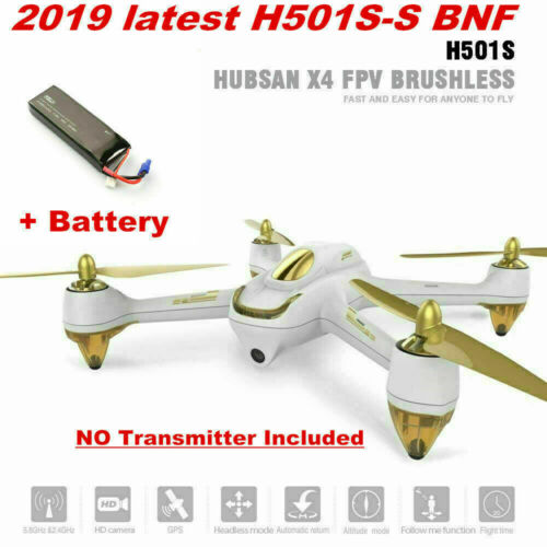 Hubsan H501S Brushless 1080P FPV Quadcopter Altitude Follow Me GPS BNF+Battery