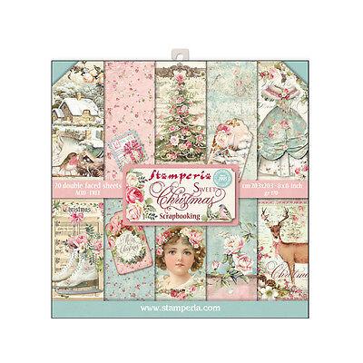 1 Set Scrapbooking Papier Block 20 sheets 20,3x20,3 SBBLQ01 Sweet christmas