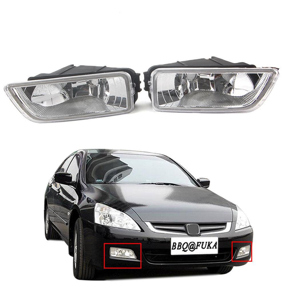 Clear Fog Lights condução Lâmpada Par Kit Para Honda Accord 2013 2014 2015 2016