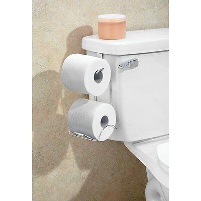 Tank Toilet Paper Holder 2 Roll Bathroom Storage Organizer Stand Tissue Rack (Toilet Tissue Stand)