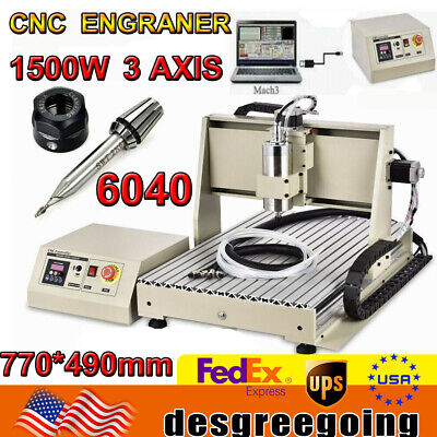 3 Axis 1.5kw Cnc 6040 Pro Diy Router Kit Engraving Milling Machine Pcb