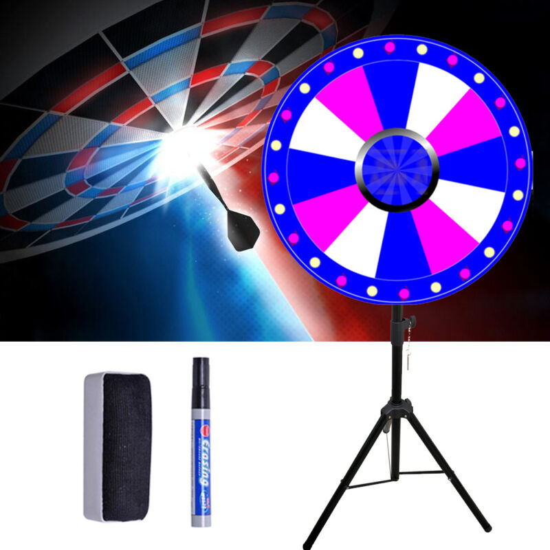 """24""""  Color Prize Wheel Fortune Spin Game 12 Slots Tradeshow with Tripod"""