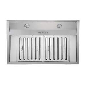 "NEW KOBE Range Hoods Deluxe 36"" Built-In/Insert Range Hood 1100 CFM, Baffle Filters, Stainless Steel Condition: New"