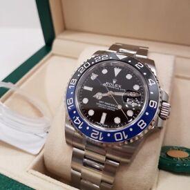 Rolex 116710BLNR 2017 (Feb) GMT Master II 2 Batman Mens 40mm Watch
