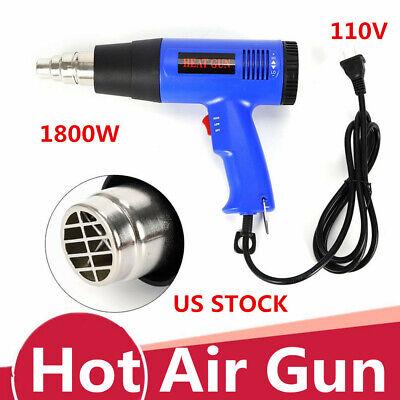 110v 1800w Adjustable Temperature Hot Air Heat Gun Fast Heating Blower Us Plug
