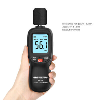 Meterk Professional Digital Noise Meter Sound Level Meter Tester 30-130db H3d9