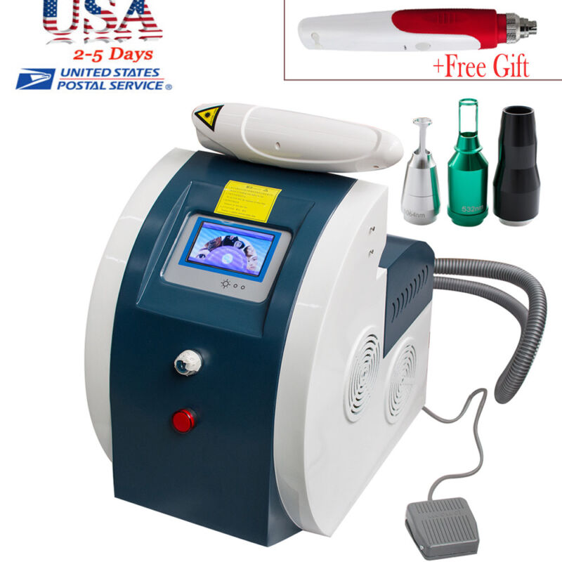 Switched ND YAG Laser Tattoo Removal Flecks Eyebrow Pigment+ Free Gift Derma pen