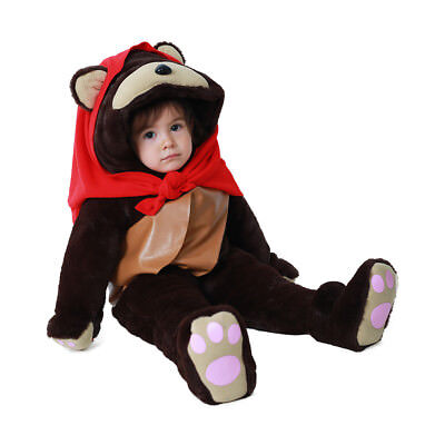 Toddler Ewok Halloween Costume Outfit Child Bear Mascot Costume with Scarf ](Baby Ewok Outfit)