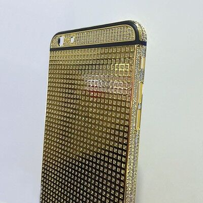 Limited 24K Gold Plated Crystal Housing diamond Battery Cover For iPhone 6 6s (24k Gold Iphone 6)
