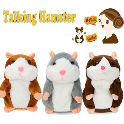 Cute Cheeky Hamster Talking Nodding Sound Record Mimicry Toy Kids fun Xmas Gift ()