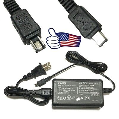 AC Adapter Battery Power Supply Charger Cord For Canon VIXIA HF R700 R600 US