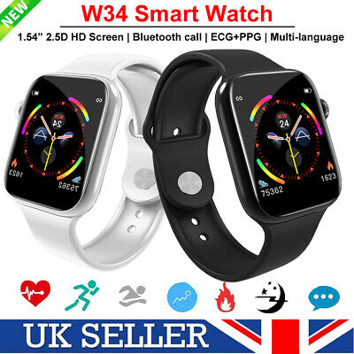 W34 Bluetooth Watch ECG Heart Rate Monitor Smart Watch for Android i Phone 2020