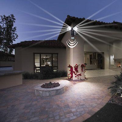LED SOLAR Außen Wand Leuchte mit Bewegungsmelder Spot Strahler Haus Garten Lampe