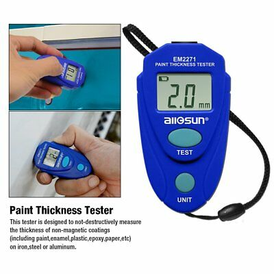 All-sun Mini Digital Paint Coating Thickness Meter Enamel Plastic Epoxy 2rdg