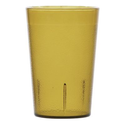 Carlisle Stackable Tumbler 8 oz Amber SAN Plastic Pebbled (5526-13) ()