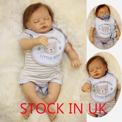 22inches 55cm Reborn Baby Doll Newborn Baby Doll Soft Silicone Dolls Xmas Gifts