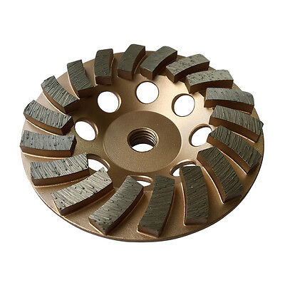 4.5 Concrete Grinding Cup Wheels 18 Diamond Abrasive Turbo Seg 58-11 Arbor