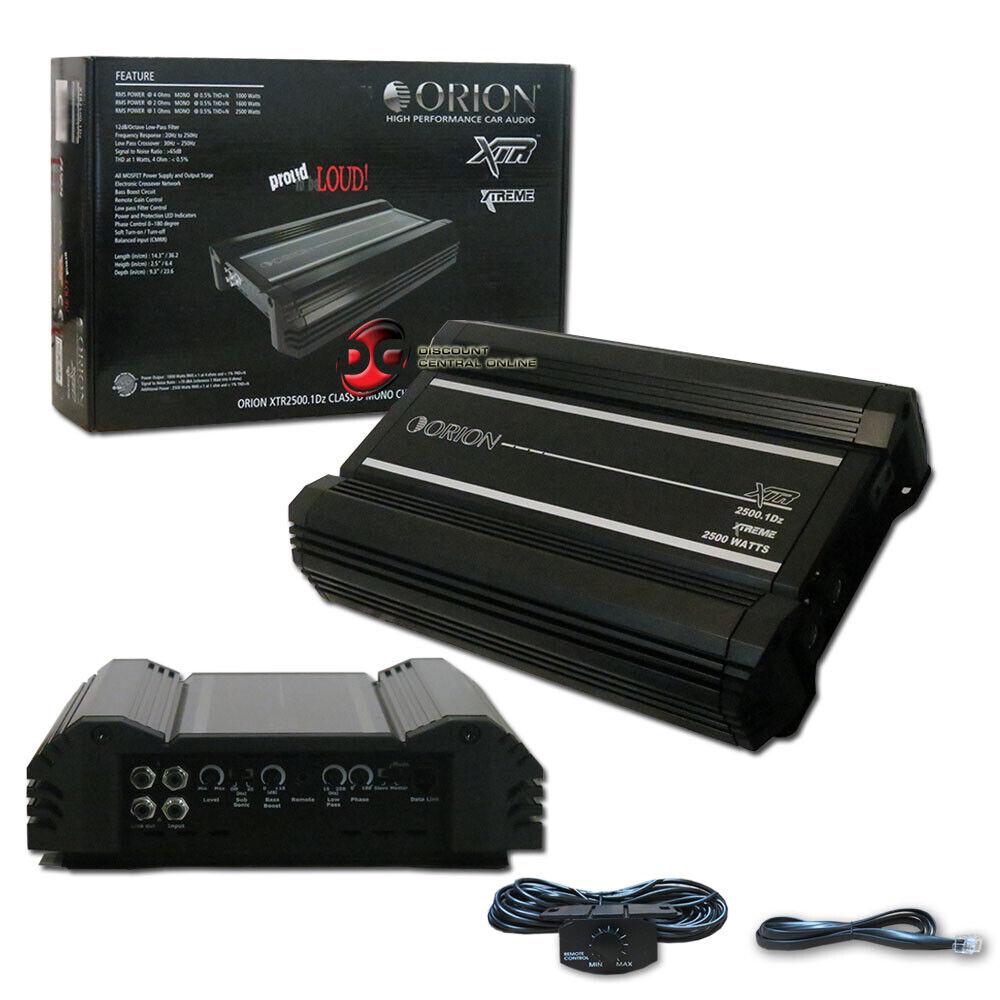 ORION XTR2500.4 +2YR WARANTY XTR AMP CLASS A/B 4 CHANNEL CAR