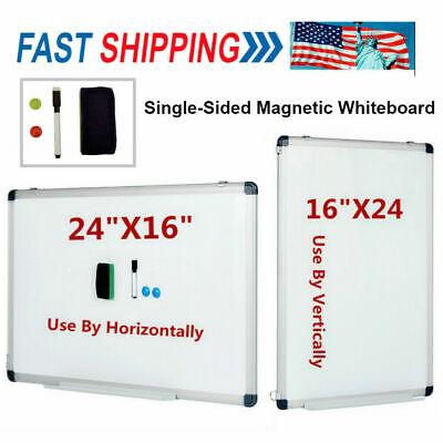 24x16 Magnetic Whiteboard Office Dry Wipe Drawing Writing Erase Board School