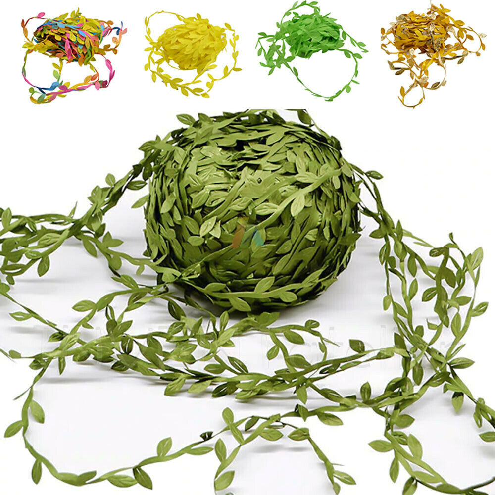 Home Decoration - Artificial Leaf Flower Leaves Vine Fabric Garland Wedding Party Home Decor
