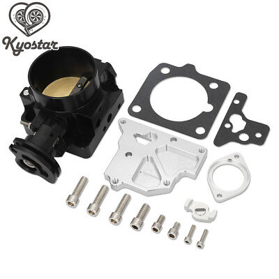 Silver Duokon 65mm CNC Complete Throttle Body Assembly Aluminum High Flow Intake Manifold Throttle Body