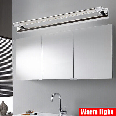 Modern Bathroom LED Stainless Steel Mirror Front Make-up Wall Light Warm Lamp