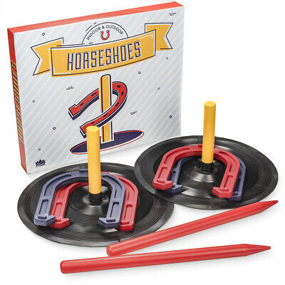 Horse Shoe Game (Deluxe Indoor and Outdoor Horseshoe Game Set | Outside Family Lawn)
