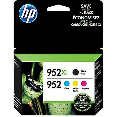 4-PACK HP GENUINE 952XL Black & 952 Color Ink (NO RETAIL BOX) OFFICEJET PRO 8720