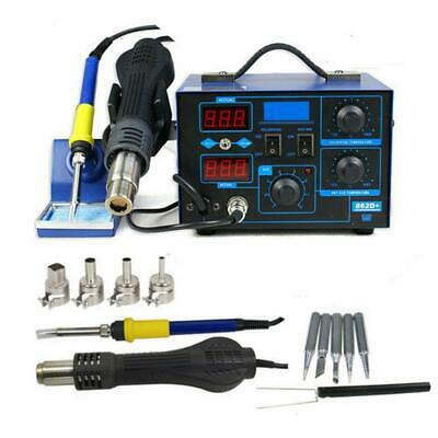 2in1 Smd 110v Electric Esd Soldering Iron Station Desoldering Welder Set 862d