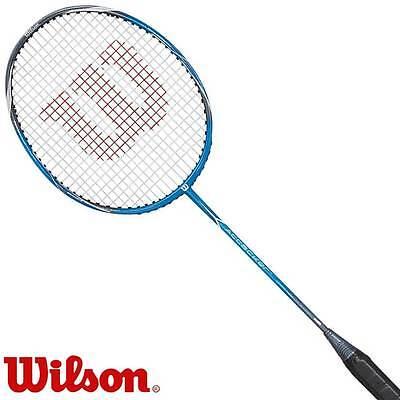 Wilson ATTACKER Badmintonschläger 90 g (Rahmen) - inkl. Hülle & Werksbesaitung