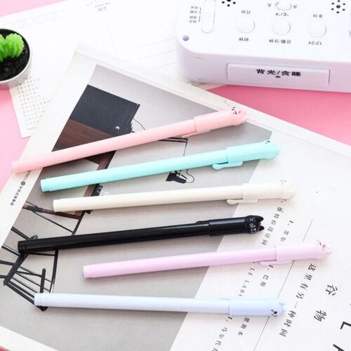 6pcs/lot Cute Cat Gel Pen Black Ink Pen Kawaii Stationery School Office Supplies