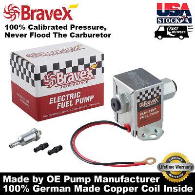 Bravex Universal Electric Fuel Pump 4-7 PSI 12V Low Pressure Gas Diesel Inline