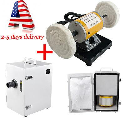Dental Poliser Polishing Polishing Machine Lath Desktop Digital Dust Collector