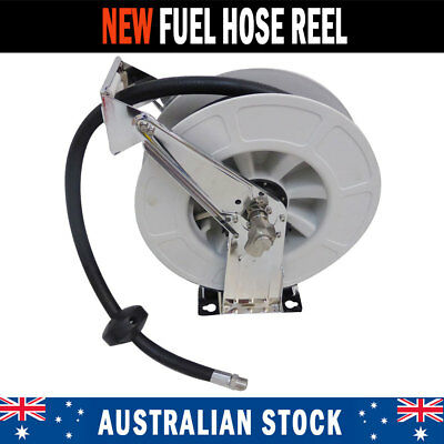 NEW Stainless Fuel Hose Reel Diesel Unleaded Petrol Oil Biodiesel AdBlue DEFs