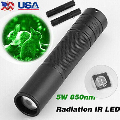 Infrared Led Night Vision - 5W 850nm LED Infrared IR Flashlight Torch 18650 Zoomable Lamp Night Vision Scope