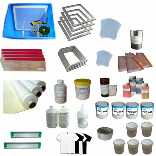 Brand New Screen Printing Equipment:4 Colors Screen Printing Materials Kit006532