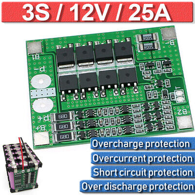 124 Pcs 3s 12v 25a Bms Lithium Battery Pcb Charge Protection Board Balance
